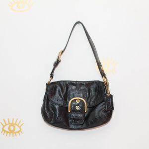 Coach Black Patent Leather Hobo Bag 13132